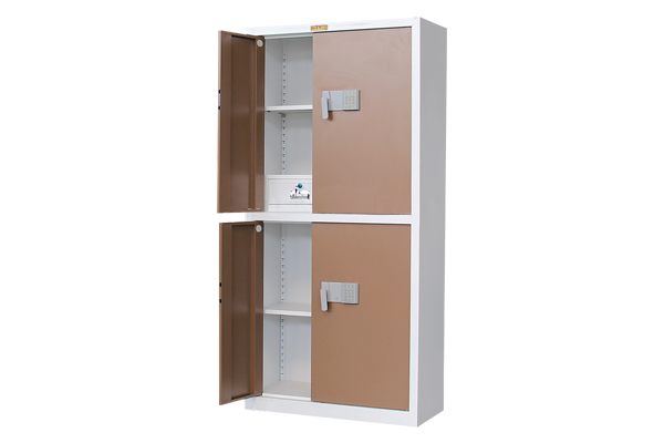 Steel password confidential cabinet with safe insi
