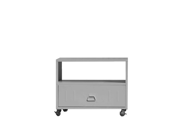 Metal portable cabinet with wheels