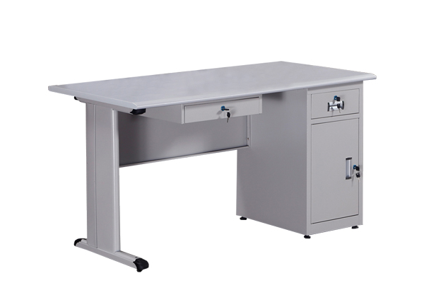 Office use metal computer table with iron key boar
